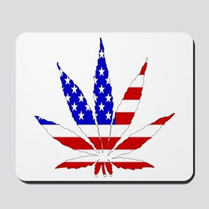 American Pot Leaf Mousepad